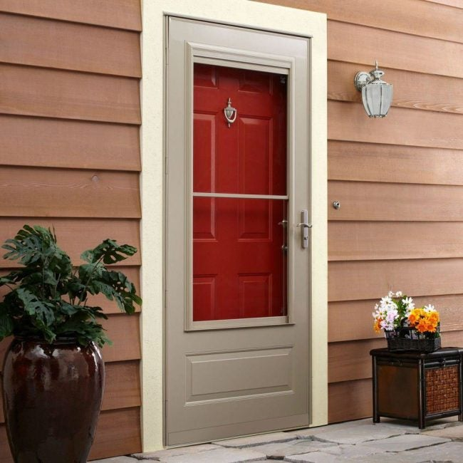 The Best Storm Door with 3/4-View: EMCO