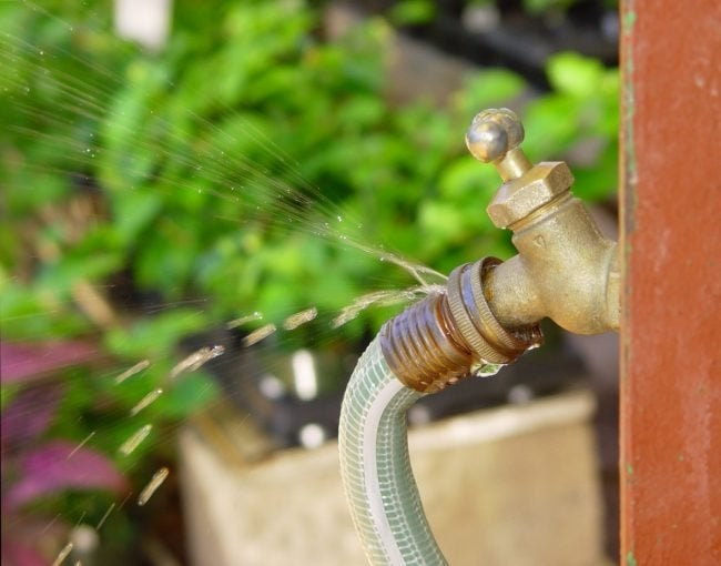 Repairing a Garden Hose that Leaks at the Spigot