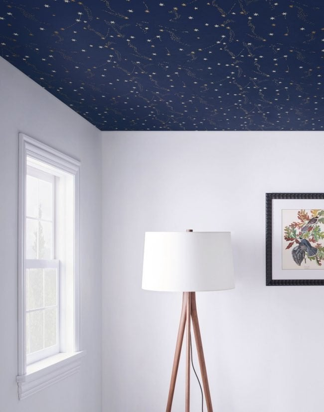 7 Things to Know Before You Wallpaper the Ceiling