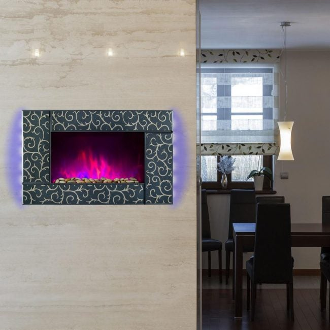 Best Wall-Mounted Electric Fireplace: AKDY