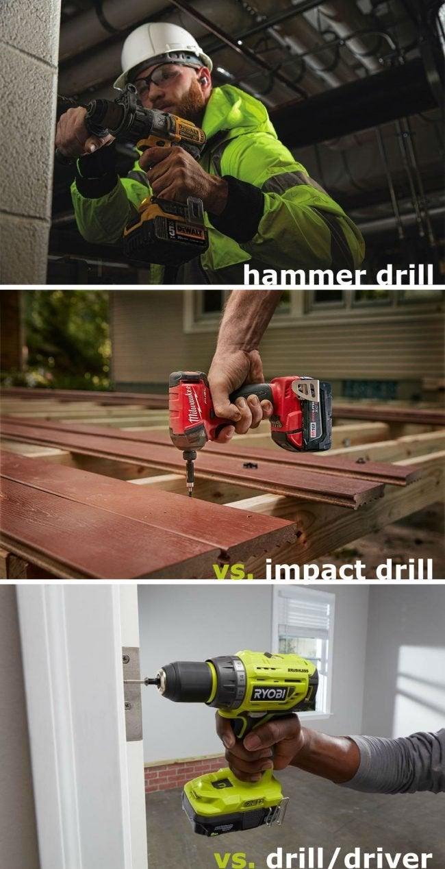 Choosing the Right Power Tool: Hammer Drill vs. Impact Drill vs. Drill