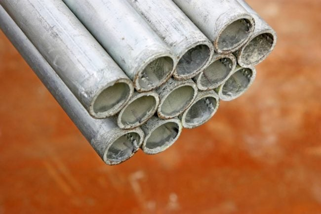 Types of Plumbing Pipes to Know: Galvanized Pipe