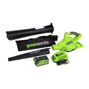 The Best Leaf Vacuum Option: Greenworks Variable Speed Cordless Leaf Vacuum