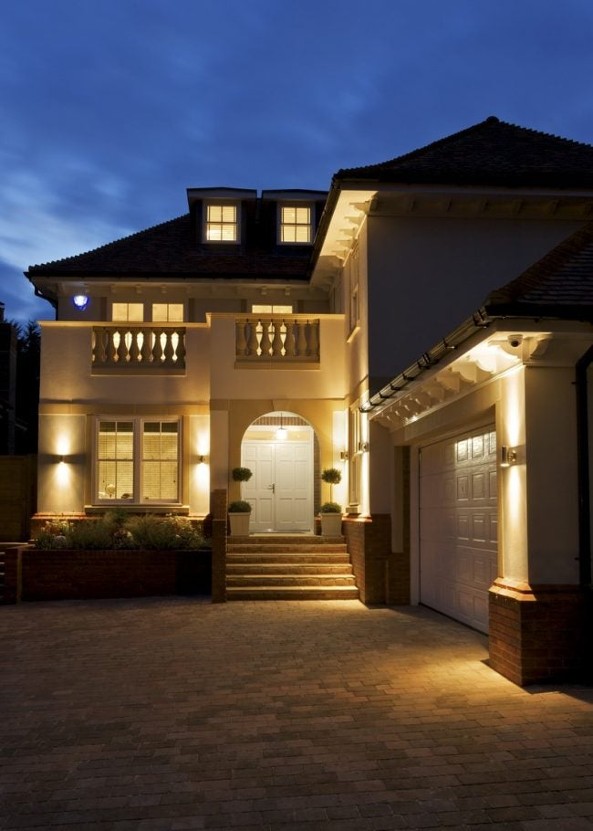 Improve Garage Door Security with a Motion-Activated Floodlight