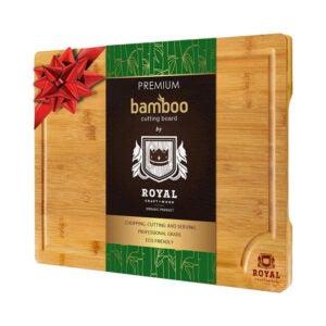 The Best Cutting Board Option: ROYAL CRAFT WOOD Organic Bamboo Cutting Board