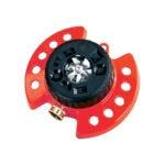 The Best Lawn Sprinkler Option: Dramm 9-Pattern Turret Sprinkler