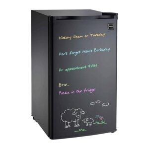 The Best Mini Fridge Option: RCA 3.2 cu. ft Black Erase Board Refrigerator