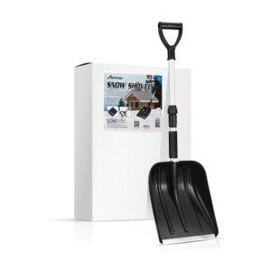 The Best Snow Shovel Option: MOVTOTOP Portable Folding Shovel with D-Grip Handle
