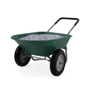 The Best Wheelbarrow Option: Best Choice Products Dual-Wheel Home Wheelbarrow