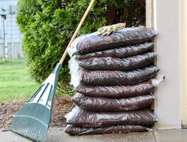 Supplies for Mulching the Garden