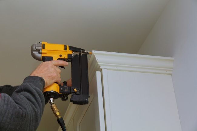 How to Use a Nail Gun on Cabinetry