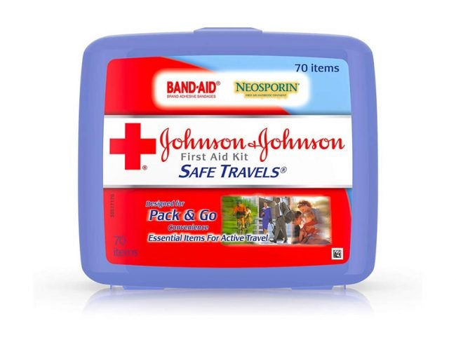 The Best First Aid Kit Option: Johnson & Johnson Safe Travels First Aid Kit