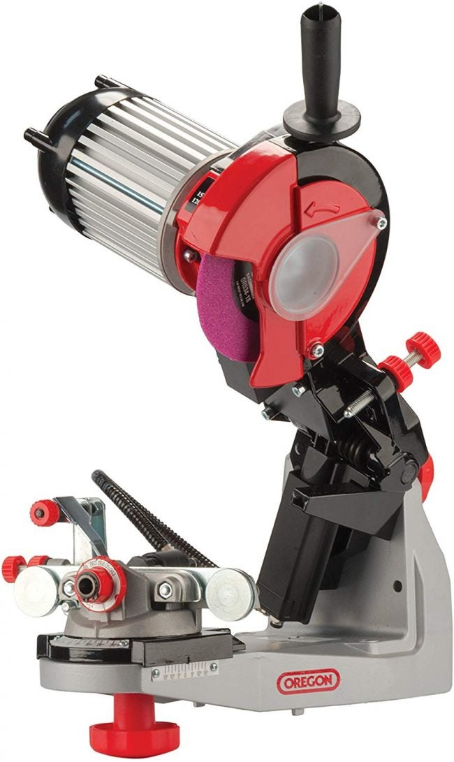 The Best Electric Chainsaw Sharpener Option: Oregon 620-120 Hydraulic Assisted Grinder