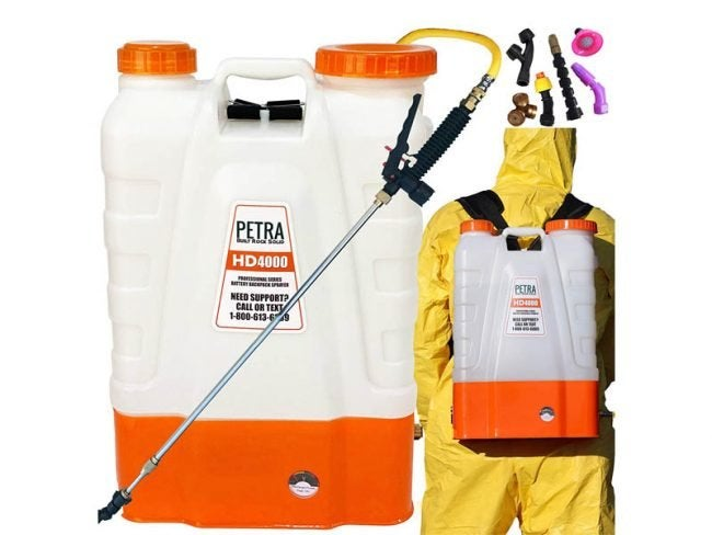 The Best Backpack Sprayer Option: Petra 4 Gallon Battery Powered Backpack Sprayer