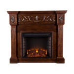 The Best Electric Fireplace Option: SEI Furniture Carved Electric Fireplace