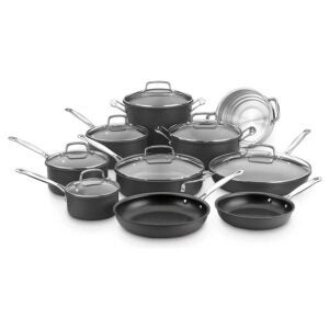 The Best Nonstick Cookware Option: Cuisinart 66-17N Chef's Classic Non-Stick Set