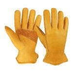 The Best Work Gloves Option: OZERO Flex-Grip Leather Work Gloves