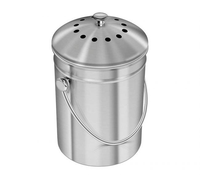 The Best Compost Bin Option: Utopia Kitchen Stainless Steel Compost Bin