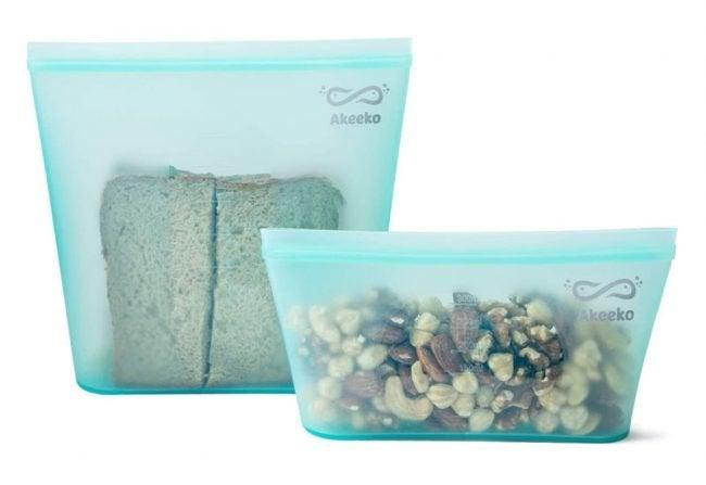 The Best Reusable Sandwich Bags Option: Akeeko Zip Lock Seal Sandwich Snack Bags