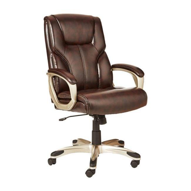 The Best Office Chair Option: AmazonBasics High-Back Executive Swivel Office Chair