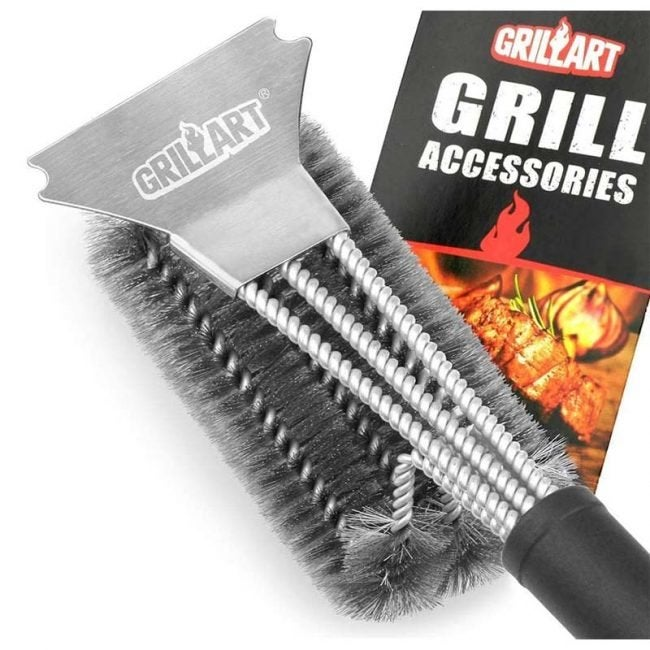 The Best Grill Brushes Option: Grill Art Stainless Steel 3 in 1 Grill Brush