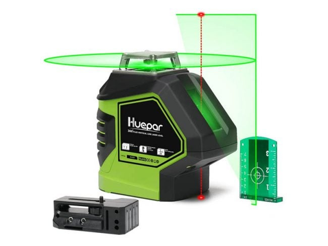 The Best Laser Level for Home Use Option: Huepar Self-Leveling Green Laser Level