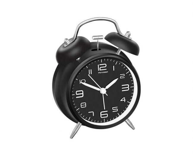 The Best Alarm Clock Option: Peakeep Twin Bell Alarm Clock