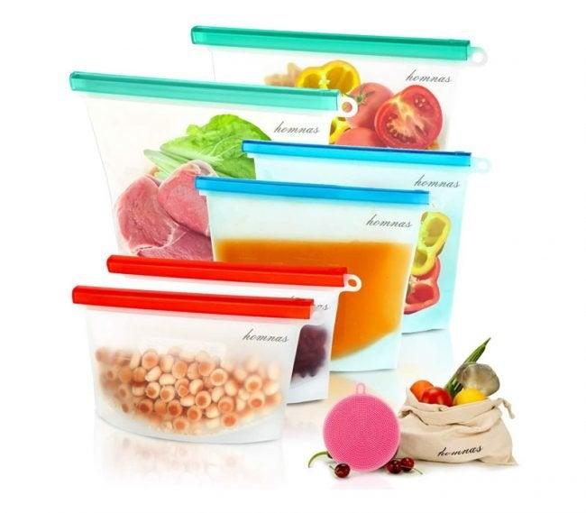 The Best Reusable Sandwich Bags Option: Euregil Reusable Silicone Food Storage Bags