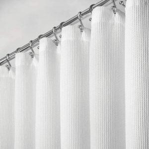 The Best Shower Curtain Option: mDesignPremium 100% Cotton Shower Curtain