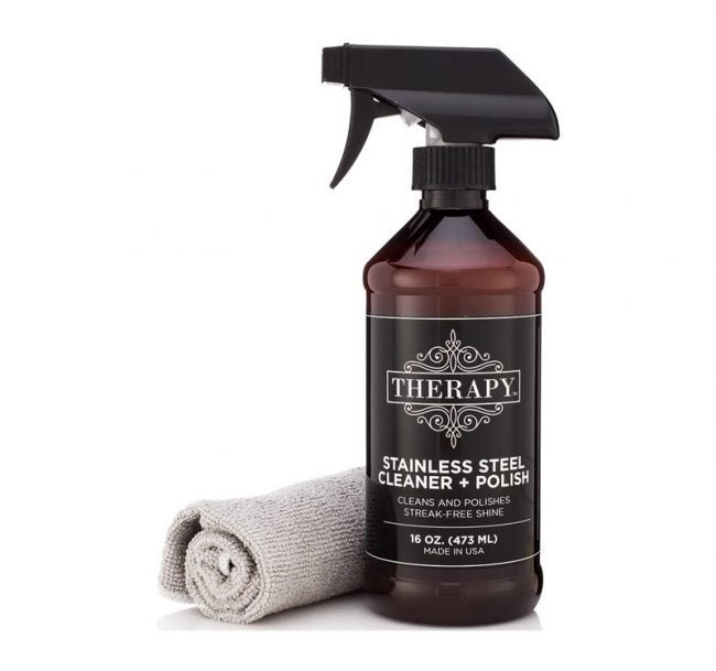The Best Grill Cleaner Option: Therapy Premium Stainless Steel Cleaner & Polish