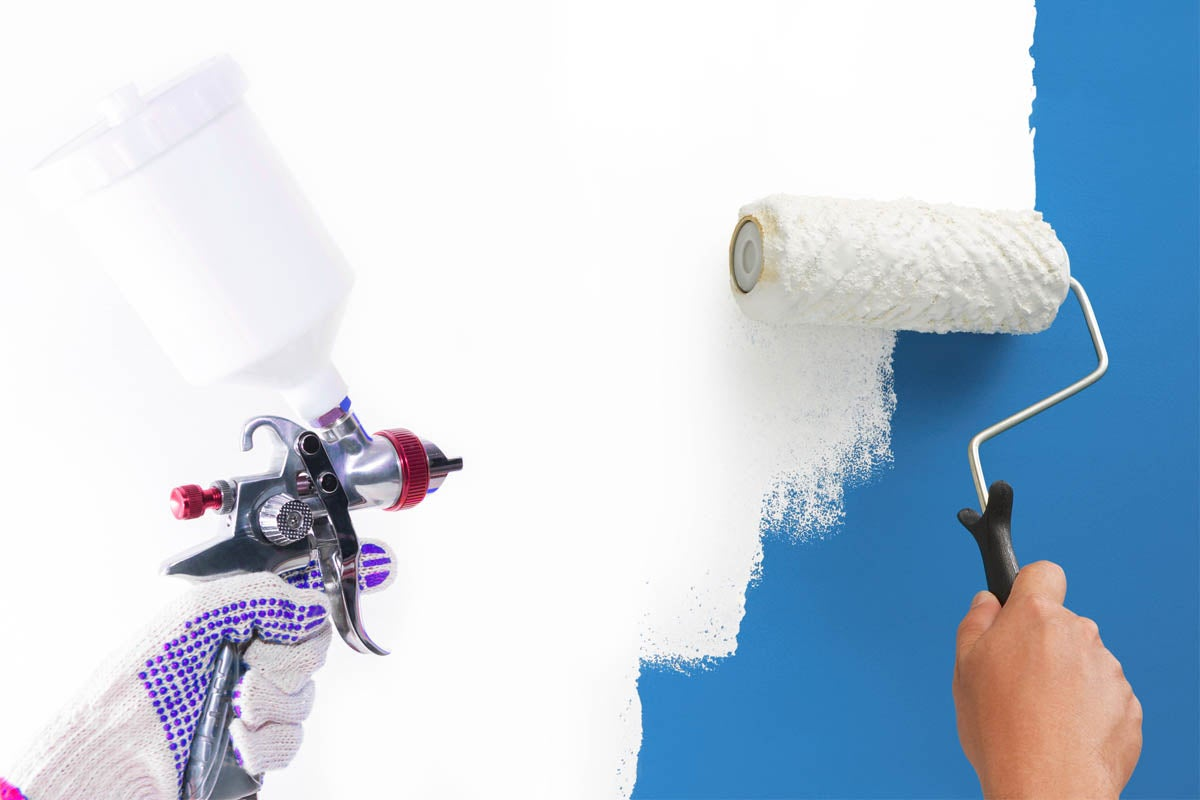 What's the Difference? Spraying vs. Rolling Paint