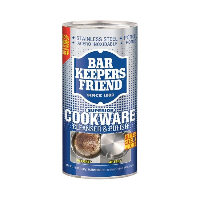 The Best Stainless Steel Option: Bar Keepers Friend Cookware Cleanser
