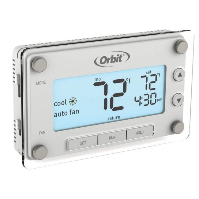 The Best Programmable Thermostat Options: Orbit Clear Comfort Programmable Thermostat