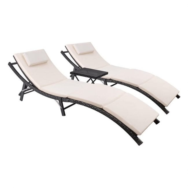 Devoko Patio Chaise Lounge Chair Set