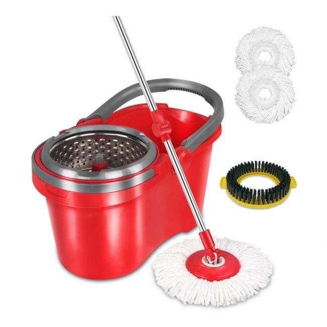 The Best Spin Mop Option: HAPINNEX Spin Mop Wringer Bucket Set