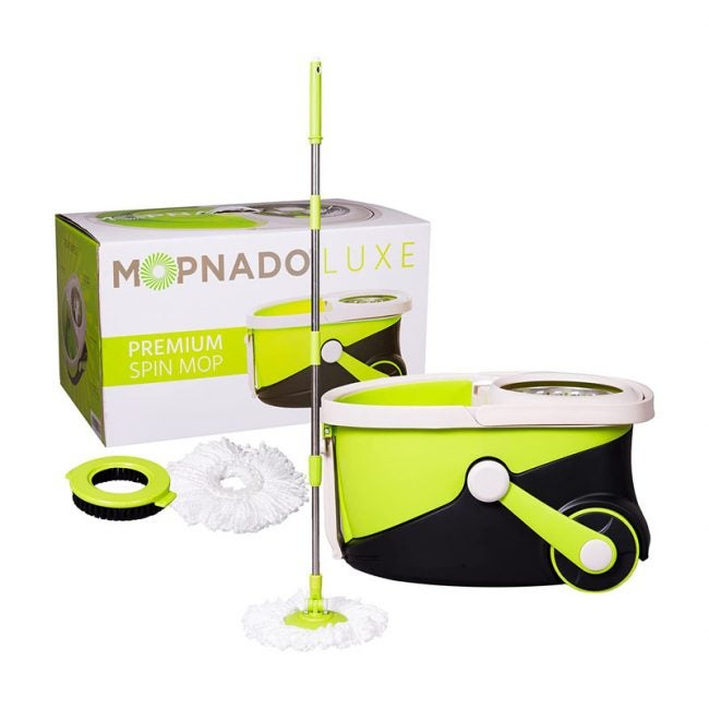 The Best Spin Mop Option: Mopnado Stainless Steel Rolling Spin Mop