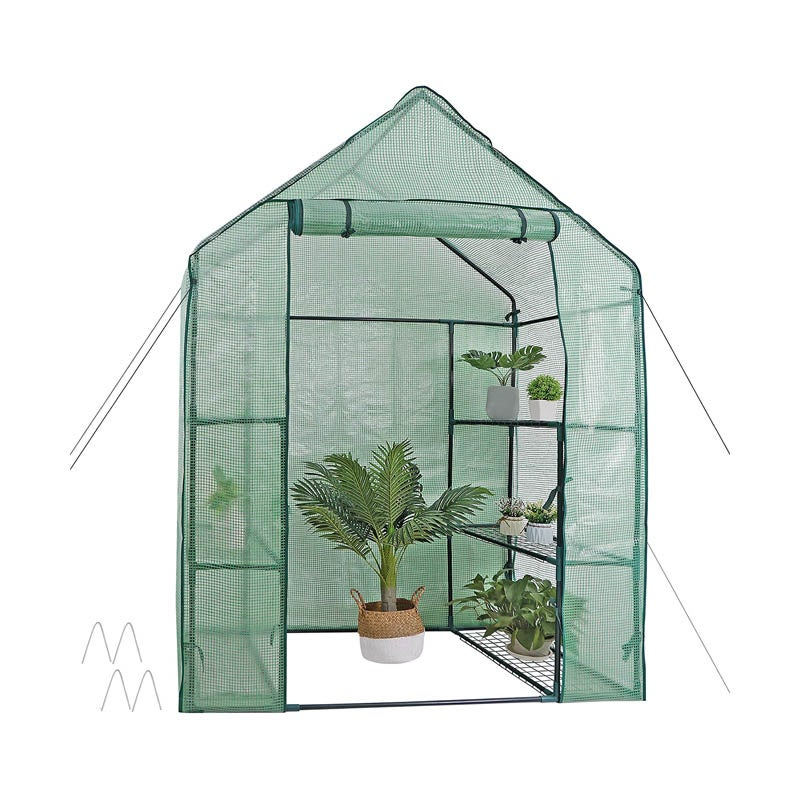 The Best Compact Greenhouse Option: Nova Mini Walk-In Greenhouse, 6 Shelves