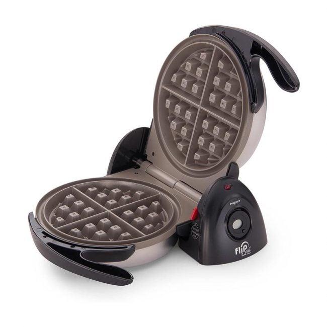 The Best Waffle Maker Option: Presto Ceramic FlipSide Belgian Waffle Maker Flip