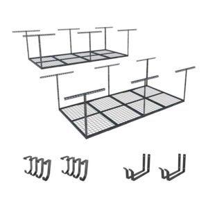 The Best Lumber Storage Rack Option: FLEXIMOUNTS 2-Piece Overhead Garage Storage Rack Set