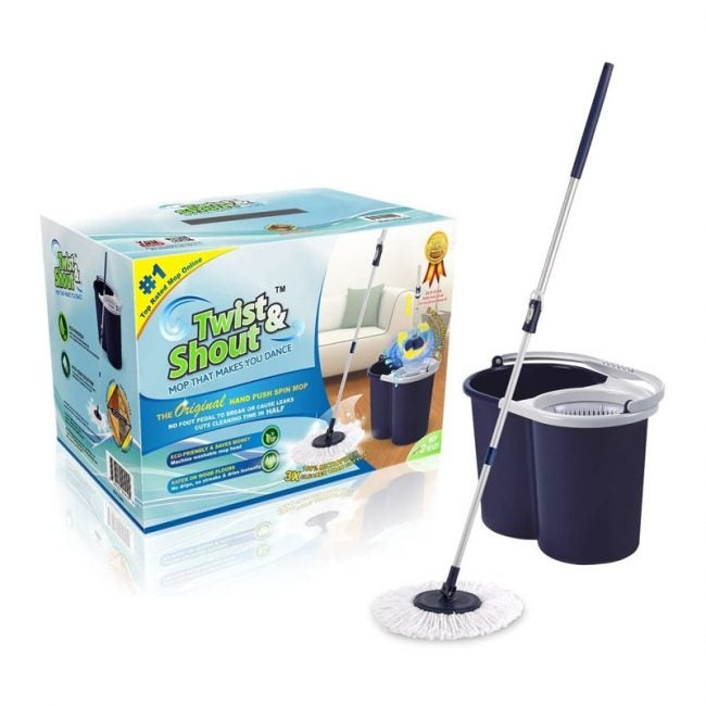 The Best Spin Mop Option: Twist and Shout Hand Push Spin Mop