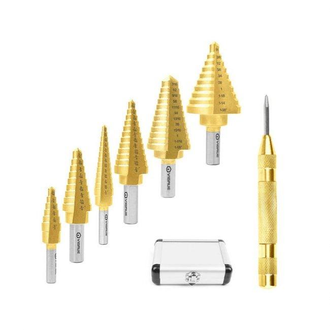 The Best Drill Bits for Metal Option: VIGRUE Step Metal Drill Bit Set