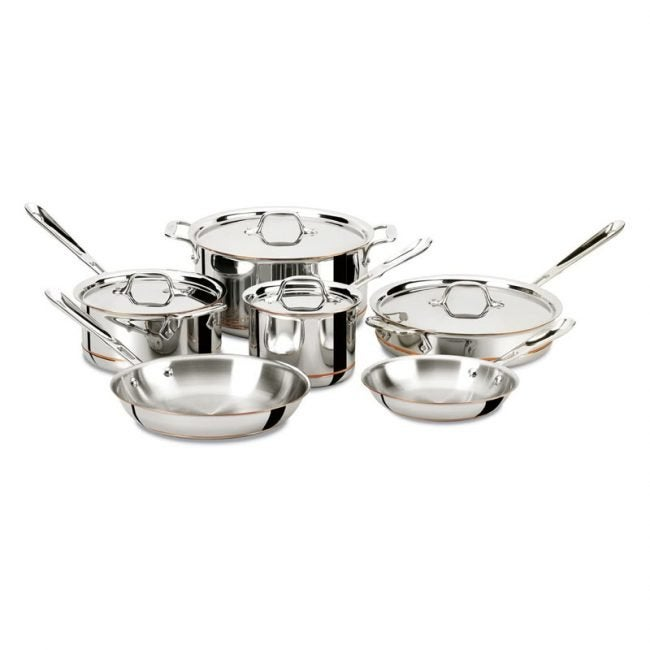 The Best Copper Cookware Option: All-Clad Copper Core 5-Ply Cookware Set