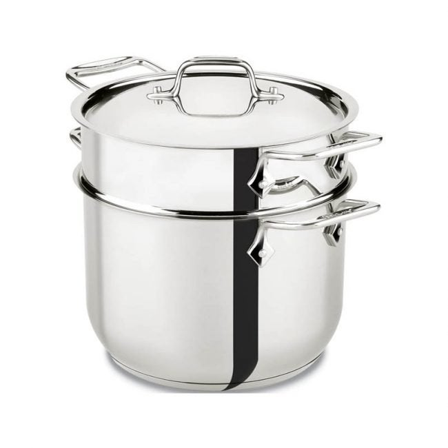 The Best Pasta Pot Option: All-Clad E414S6 Stainless Steel Pasta Pot and Insert