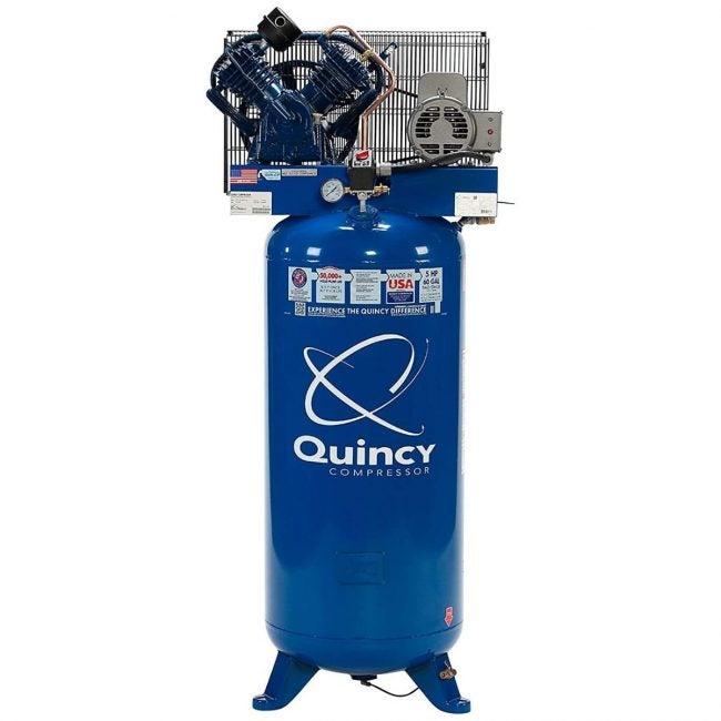 The Best Home Air Compressor Option: Quincy QT-54 Splash Lubricated 60-Gallon Reciprocating Air Compressor