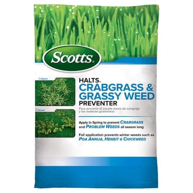 The Best Crabgrass Killer Option: Scotts Halts Crabgrass and Grassy Weed Preventer