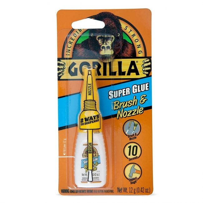 The Best Glue for Plastic Option: Gorilla Super Glue With Brush and Nozzle Applicator