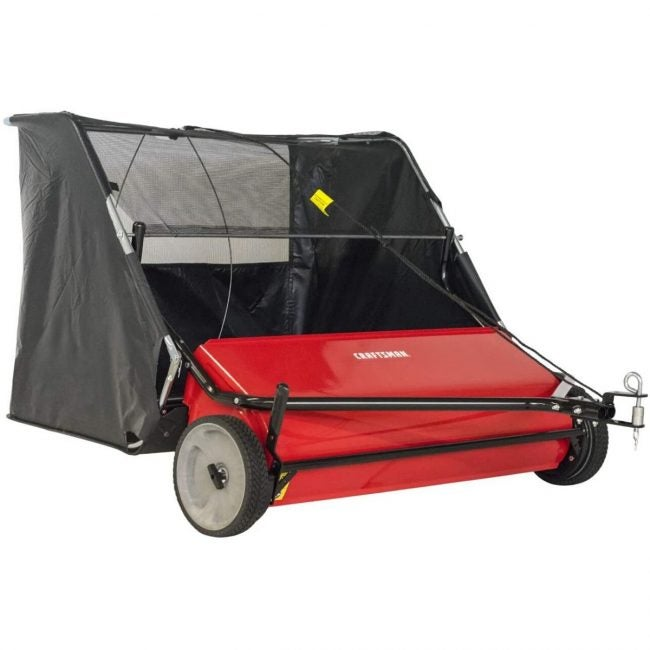 The Best Lawn Sweeper Option: CRAFTSMAN 42-Inch Hi-Speed Tow Lawn Sweeper