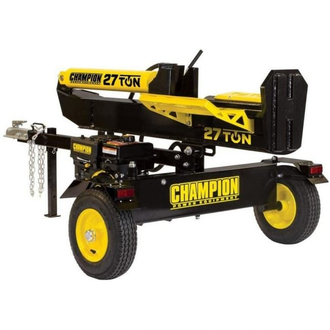 The Best Log Splitter Option: Champion Power Equipment 27 Ton 224cc Log Splitter