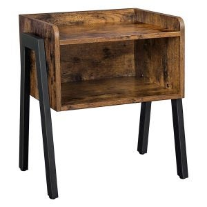 The Best Nightstand Option: VASAGLE Industrial Nightstand, Stackable End Table