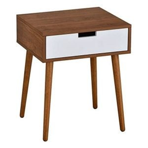 The Best Nightstand Option: eHomeProducts Light Walnut/White Side end Table